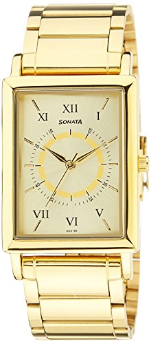 Sonata-Analog-Gold-Dial-Mens-Watch-77003YM02A