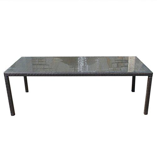 Rattan Gartentisch - Rattanmöbel - Gartenmöbel - Esstisch 220 cm  -  ITALY