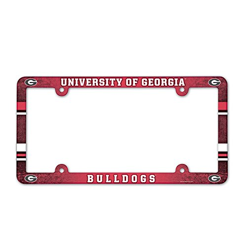 Georgia Bulldogs Full Color License Plate Frame (Bulldogs License Plate compare prices)