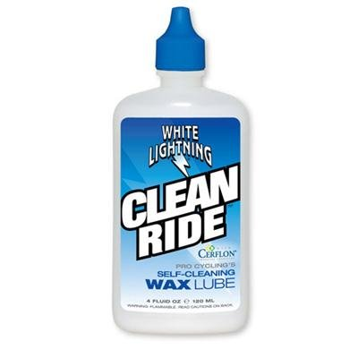 White Lightning Original Clean Ride Self-Cleaning Wax Bicycle Lubricant - 4 oz. - W50040102