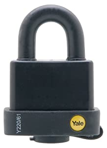 Yale Y220/61/123/1 Laminated Steel Padlock with Vinyl Cover and Brass 5-Pin Key Cylinder, 2-1/4-Inch Wide at Sears.com