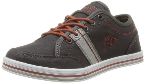 Kappa Boys' Brador Kid Trainers Gray Gris (Dk Grey/Lt Grey/White/Cognac) 36