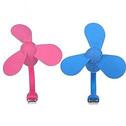 Easyhome USB Fan For LAptop/ Desktop/ Powerbank Multiple Colors. Black/ Blue/ Purple/ Pink. (3 Fan Wings Blades) Colors may vary.