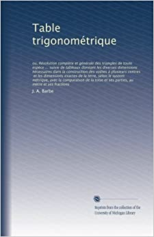 Table trigonom trique ou r solution compl te et g n rale for Table trigonometrique