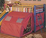 Union Square Multicolor Loft Bed With Slide and Tent