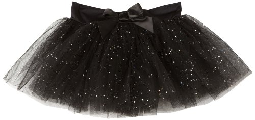 Capezio Girls 7-16 Tutu Skirt W/ Glitter Tulle,Black,M (8-10)