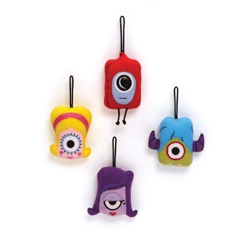 Gund Psyclops Ike, Syndi, CoCo & Syd Ornamental Set of 4 Plush Toys - 1