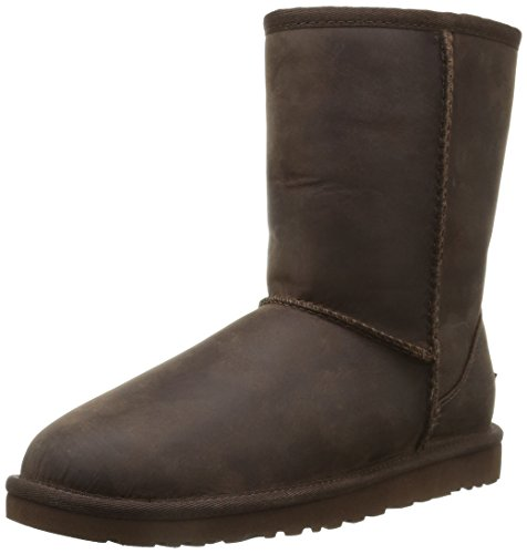ugg-classic-short-leather-botas-para-mujer-color-marron-talla-38