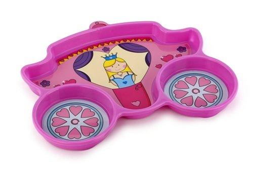 KidsFunwares Polypropylene Me Time Princess Plate, Pink - 1