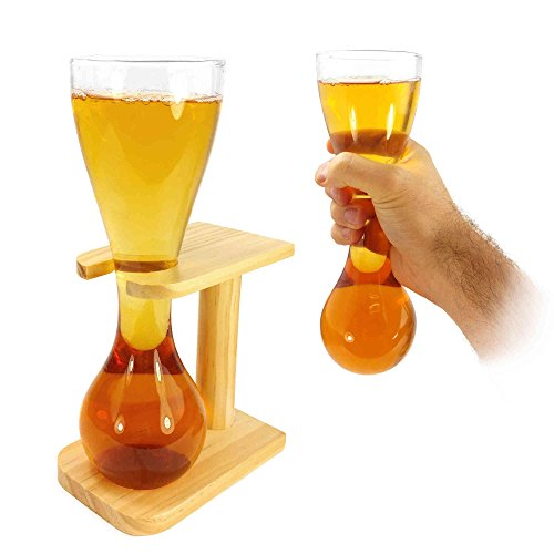 tuff-luv-personalised-quarter-yard-of-beer-lager-ale-with-with-stand-stag-gift-novelty-glass