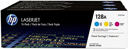 HP 128A 3er-Pack Original LaserJet Tonerkartuschen (CF371AM) cyan/magenta/gelb