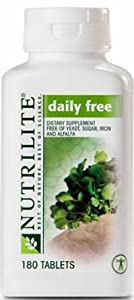 Nutrilite Daily Free Multivitamin Multimineral - Free of yeast, wheat, sugar, alfalfa, iron, and vitamin K (180 Tablets)