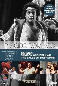 『カルメン』(クライバー指揮)、『サムソンとデリラ』(ルーデル指揮)、『ホフマン物語』(プレートル指揮) ドミンゴ(3DVD+1ボーナスDVD)