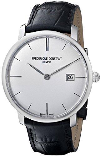 Frederique Constant FC306S4S6 - Reloj de pulsera hombre, piel, color negro