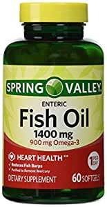 Spring valley fish oil 1400 mg 60 softgels for Spring valley fish oil review