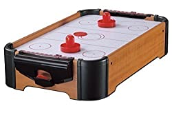 Wooden Mini Table Top Air Hockey Game Set 21