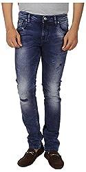 INTEGRITI Men's Regular Fit Jeans (FLIRT-KJ-056.S SKFT MSTN_34, Blue, 34)