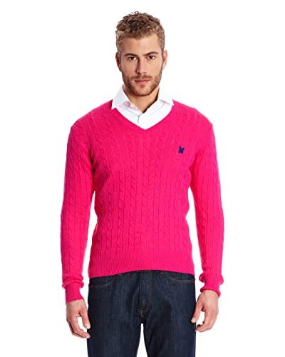 Polo Club Pullover Gentleman V Braided Jersey [Fucsia]