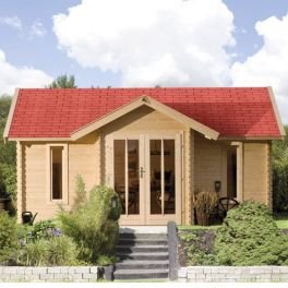 karibu gartenhaus nordland blockbohle 40 mm. Black Bedroom Furniture Sets. Home Design Ideas