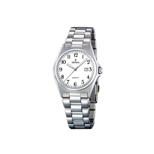 FESTINA F16375/1 - Reloj de mujer de cuarzo, correa de acero inoxidable color plata