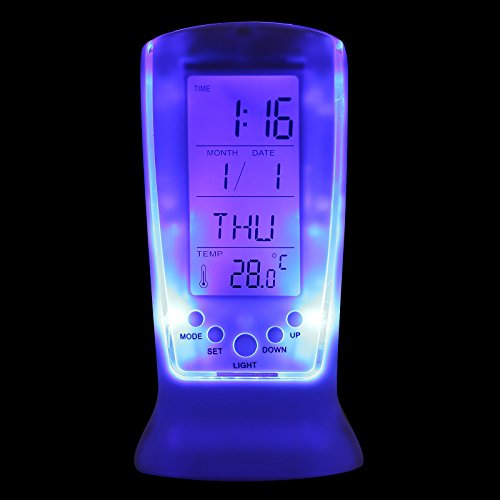 Cool Digital Backlight LED Display Table Alarm Clock Snooze Thermometer Calendar (Made For Me Mp3 Player compare prices)