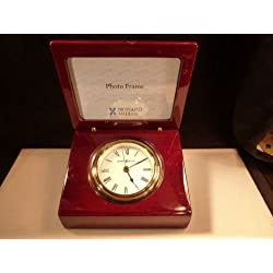 Howard Miller Hayden Picture Photo Clock 645-594 Hinged Lidded Wedge Shaped