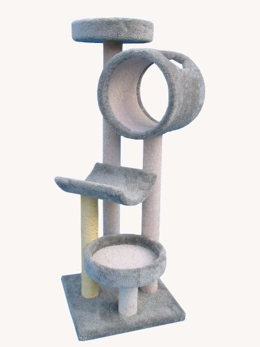 "Molly and Friends ""Tom's Tower"" Premium Handmade 4-Tier Cat Tree with Sisal, Model 2432, Beige"