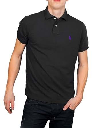 Polo Ralph Lauren - Chemise - Polo de Base - Poney petit / petit Forme Violette Sur Mesure - Homme - (Xl) Noir