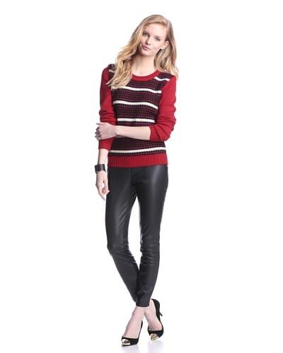 W118 by Walter Baker Women's Kristin Sweater  [Red/black]