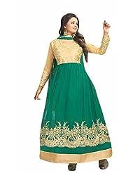 Trendz Apparels Green Net Anarkali Suit Salwar Suit
