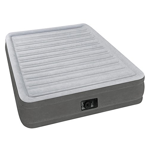 Intex Comfort Plush Mid Rise Dura-Beam Airbed with Built-in Electric Pump, Bed Height 13″, Full