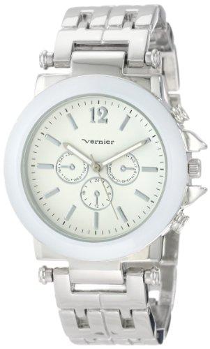 Vernier Women'S Vnr2364Ss Enamel Look Bracelet Quartz Watch