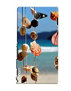 Omnam Sea Shells Hanging Printed Designer Back Cover Case For Sony Xperia M2