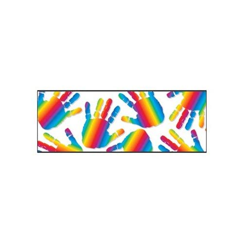 Amazon.com: Borders Straight Rainbow Handprints