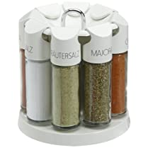 Emsa Galerie Spice Carousel with 8 Spices White