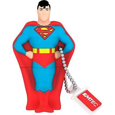 EMTEC Super Heroes 8 GB USB 2.0 Flash Drive, Superman