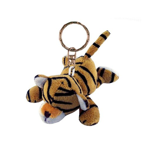 Puzzled Tiger Plush Keychain