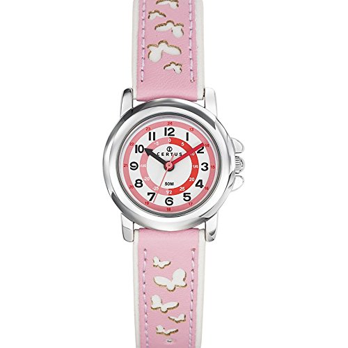 Certus 647587 - Unisex Watch - Analogue Quartz - White Dial Pink Plastic Strap