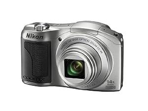 Nikon COOLPIX L610 Compact Digital Camera - Silver (16MP, 14x Optical Zoom) 3 inch LCD