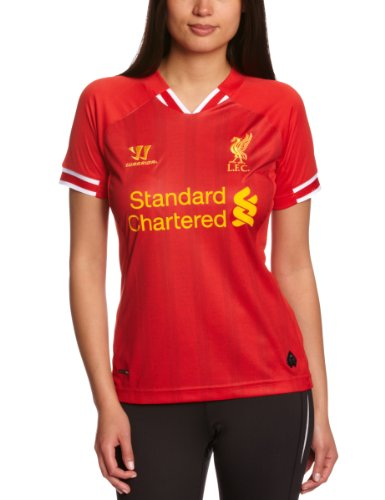 Warrior Women's LFC Home Replica Short Sleeve Shirt - High Risk Red/White/Amber Yellow, UK 14