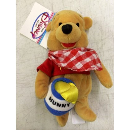 "Disney Store Picnic Pooh Mini Bean Bag Plush 8"" Doll"