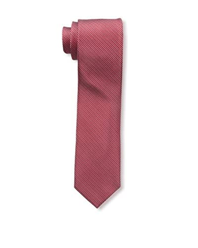 Bruno Piattelli Men's Slim Classic Micro Neat Tie, Red