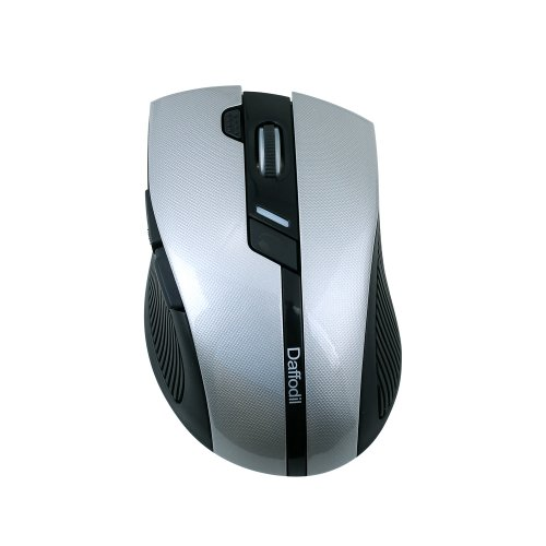 Daffodil Wms615 - High Precision 6 Button Wireless Optical Gaming Mouse - Adjustable Dpi - Adjustable Polling Rate - Windows Xp / Vista / 7 / 8 Compatible (Gray)