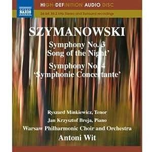 Szymanowski Symphonies 3-4 Blu-ray 2011 by NAXOS BLU-RAY AUDIO