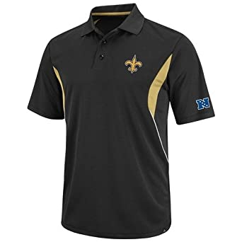 NFL Mens New Orleans Saints Field Classic Black Harvest Gold White Short Sleeve... by VF LSG