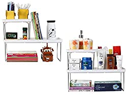UberLyfe Foldable Multipurpose Shelf Combo - 2 Big Shelves & 2 Small Shelves (KT-COM-41_42-4PC)