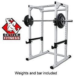DF4500 Power Rack with 300 lb. Olympic Weight Set