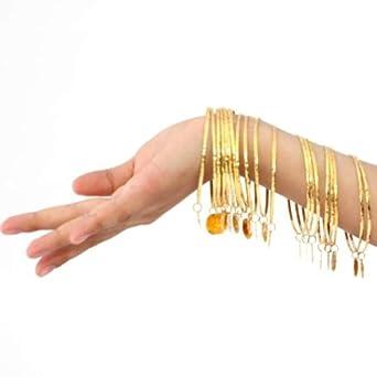 BellyLady Mutiple Metal Gypsy Belly Dance Jewelry, Gold Coins Bracelet