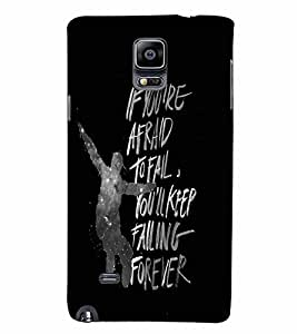 PrintVisa Quotes & Messages Attitude Life 3D Hard Polycarbonate Designer Back Case Cover for Samsung Galaxy Note 4