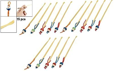 Set of Bamboo Earpicks / Ear Cleaners / Earwax Removers (15 pcs or 5 pcs by your own selection) (15 pcs) by Hermes